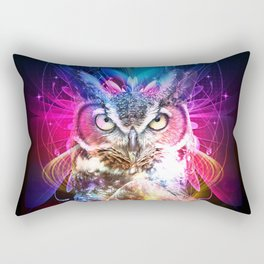 Owl Fighter Rectangular Pillow