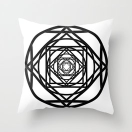 Diamonds in the Rounds Version 2 Throw Pillow
