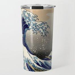 The Great Wave off Kanagawa Hokusai Travel Mug