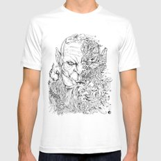 WARCRAFT DOODLE White X-LARGE Mens Fitted Tee