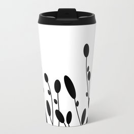 Abstract black flowers Travel Mug