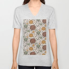 Olive Branches Rustic Pattern Unisex V-Neck