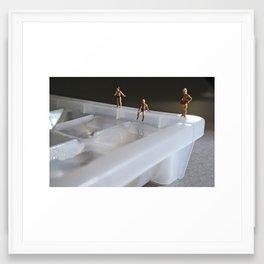 cold water. Framed Art Print
