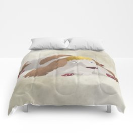 Howl's Moving Castle - Heen the dog illustration - Miyazaki, Studio Ghibli Comforters