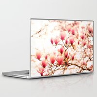 cherry blossoms Laptop & iPad Skins featuring Cherry Blossoms by Vivienne Gucwa