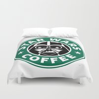 starwars Duvet Covers featuring StarWars Coffee by Unicity