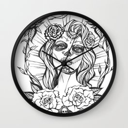 Day of the Dead Mexico Wall Clock