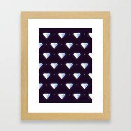 Diamonds pattern Framed Art Print