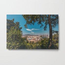 Barcelona    Spain    City    Vista    Landscape    Catalonia    View    Print    Wall art    Blue Metal Print