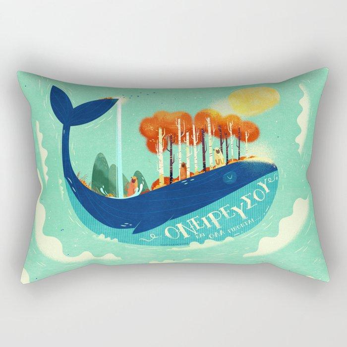 :::Tall Tree Whale::: Rectangular Pillow