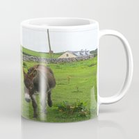 irish Mugs featuring Irish Cottage by Kim Ramage