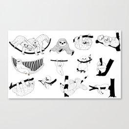 Sloth Sanctuary Canvas Print