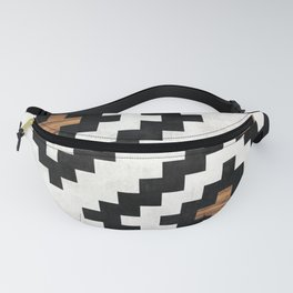 Urban Tribal Pattern No.16 - Aztec - Concrete and Wood Fanny Pack