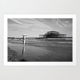 Brighton Pier, British Seaside Art Print