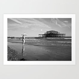 Brighton Pier, British Seaside Art Print