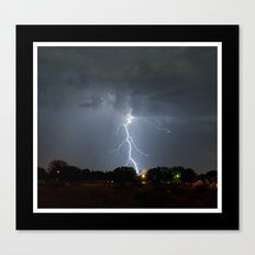 Lightning in Lovington New Mexico Canvas Print