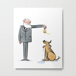 Pavlov & Dog Metal Print