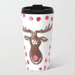 Rudolph the Reindeer Moose Travel Mug