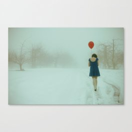 In Her Own World Canvas Print