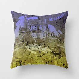 Little Chistmas Snow family Throw Pillow