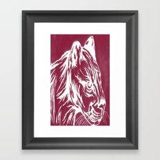 red cougar Framed Art Print