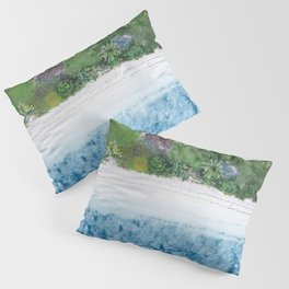 Tropical Fijian Beach | Aerial Pillow Sham