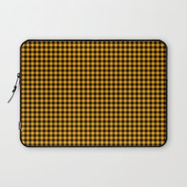 Mini Orange and Black Cowboy Buffalo Check Laptop Sleeve