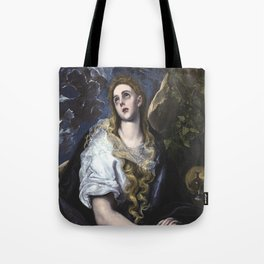 El Greco -  Mary Magdalen in Penitence Tote Bag