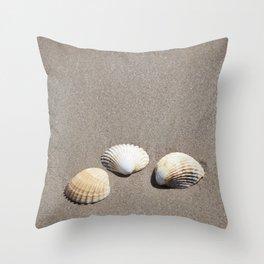 Three Seashells Throw Pillow