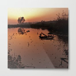 Nature landscape by sunset Metal Print
