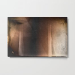 Brown abstraction  Metal Print