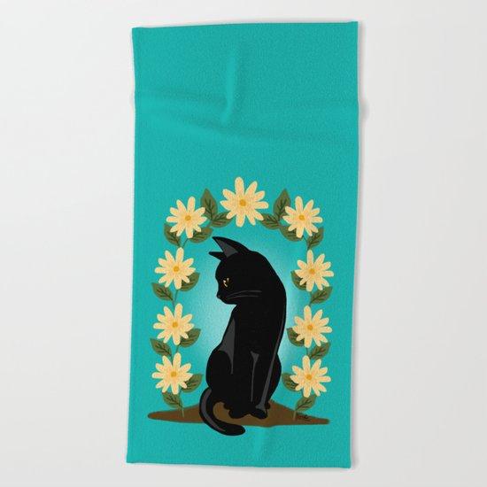 Flower gate Beach Towel