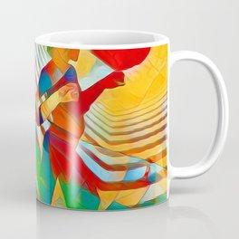 7586s-MM Red Shadow Heart Catch Cherish Set Free Abstract Romantic Love Coffee Mug