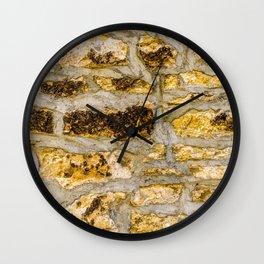 Stone Wall Structure (medium, yellow) Wall Clock