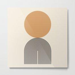Abstraction_SUNRISE_SUNSET_BOHEMIAN_LINE_POP_ART_M0208A Metal Print