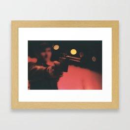 At Gunpoint Framed Art Print