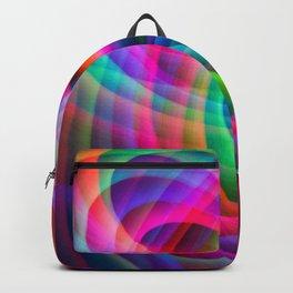 Spirograph rainbow light painting Backpack