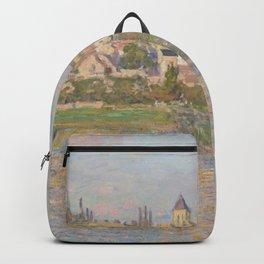 1879 Claude Monet Vetheuil Backpack