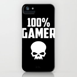 gamer logo and quote iPhone Case