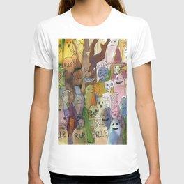 horror cute pattern T-shirt