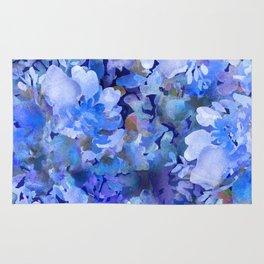 Wild Blue Rose Garden Rug