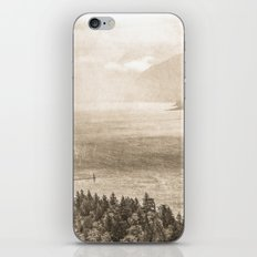 Sepia Vintage River Forest - Columbia River Gorge iPhone Skin
