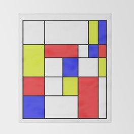 Mondrian #23 Throw Blanket