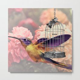 Too Wild for a Cage Metal Print