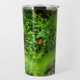 Ladybug in the grass Travel Mug