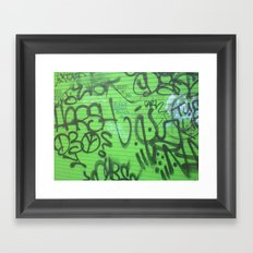 New Orleans Graffitti Framed Art Print