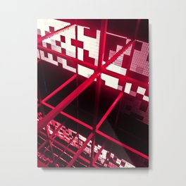 Red Structure Metal Print