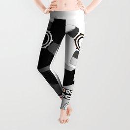 Black and White Recorder Leggings
