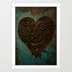 Clockwork heart Art Print