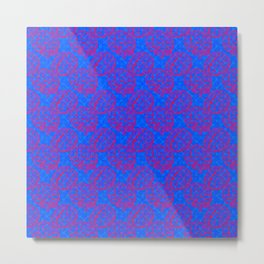 Brain Pattern Cotton Candy Colored Metal Print